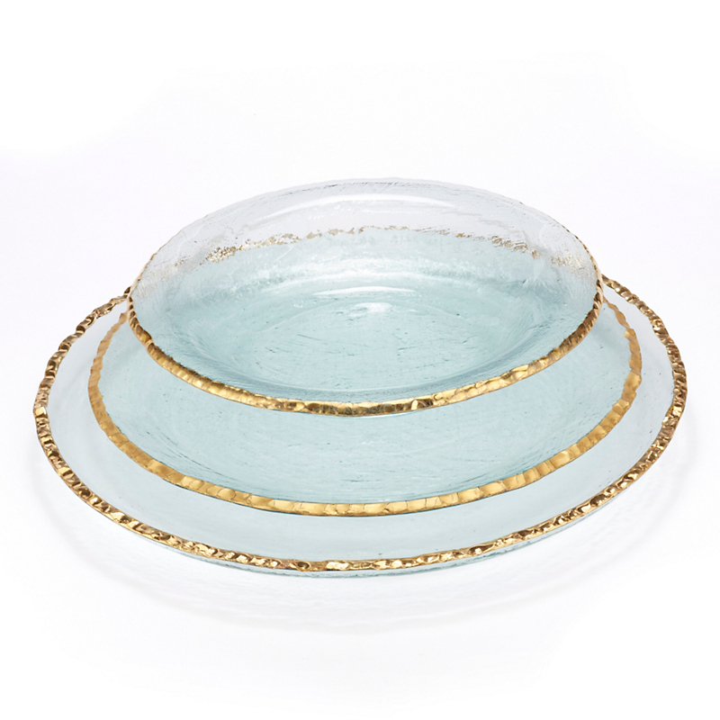 Annieglass Edgey Dinnerware, Gold