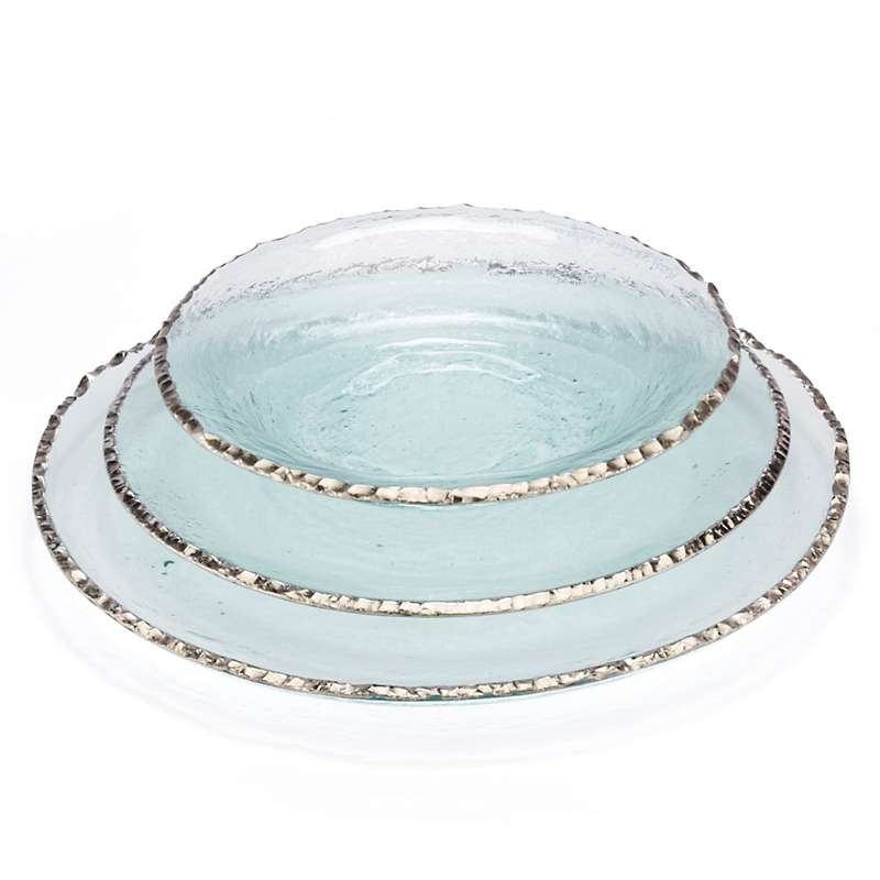 Annieglass Edgey Dinnerware, Platinum