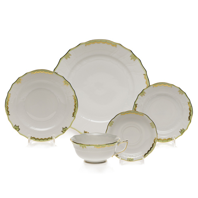 Herend Princess Victoria Dinnerware, Green
