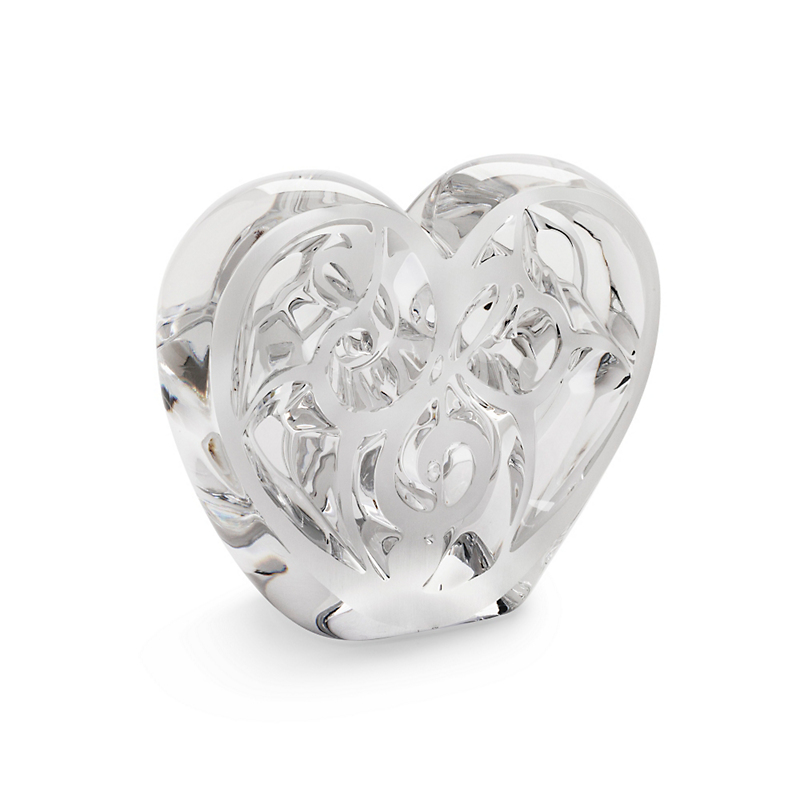 Lalique 'Music Is Love' Heart Sculpture, Clear