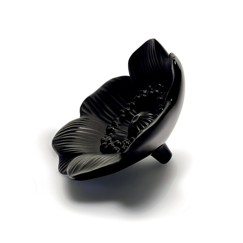 Lalique Anemone Flower, Black