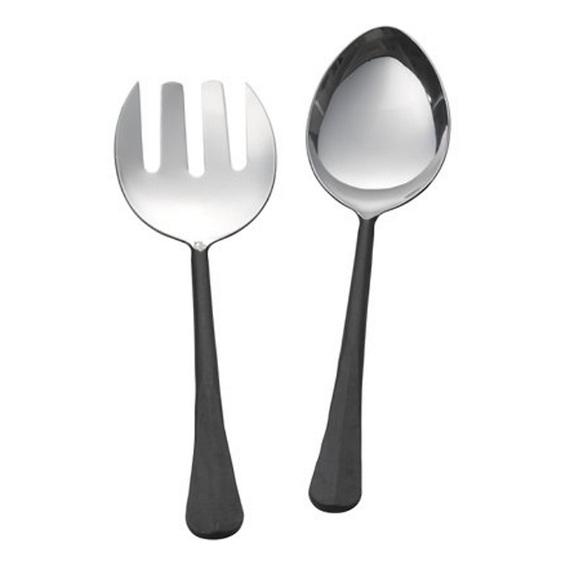 Simon Pearce Woodbury 2-Piece Stainless Steel Serving Set, Burnished