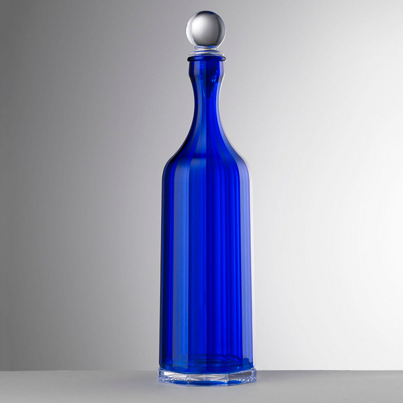 Mario Luca Giusti Bona Decanter with Stopper, Blue