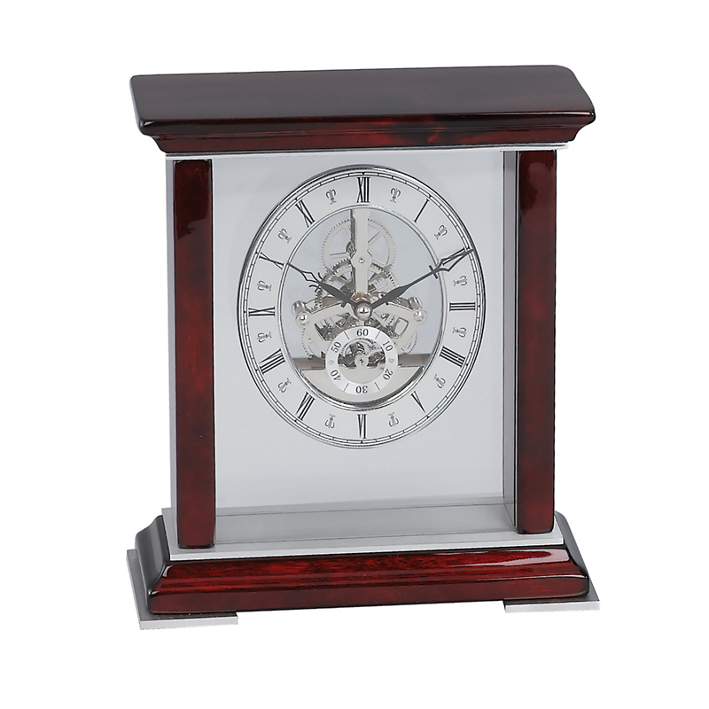 Rosewood Skeleton Clock