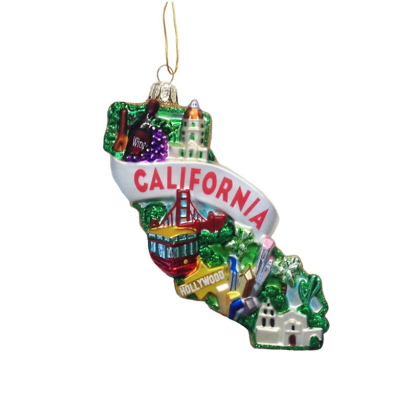 California Christmas Ornament