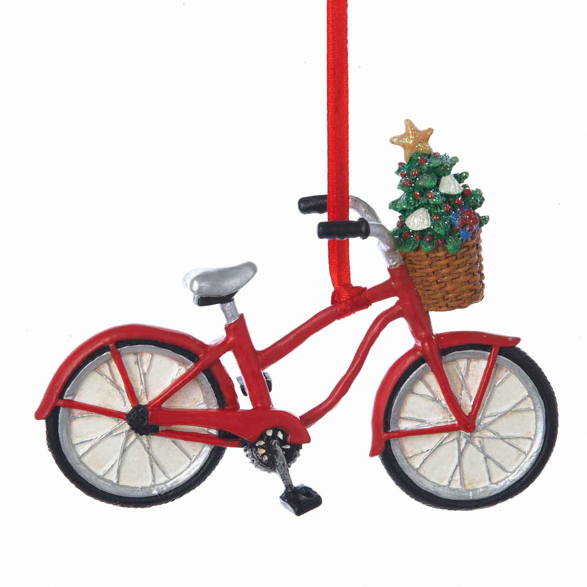 Bicycle with Tree Christmas Ornament