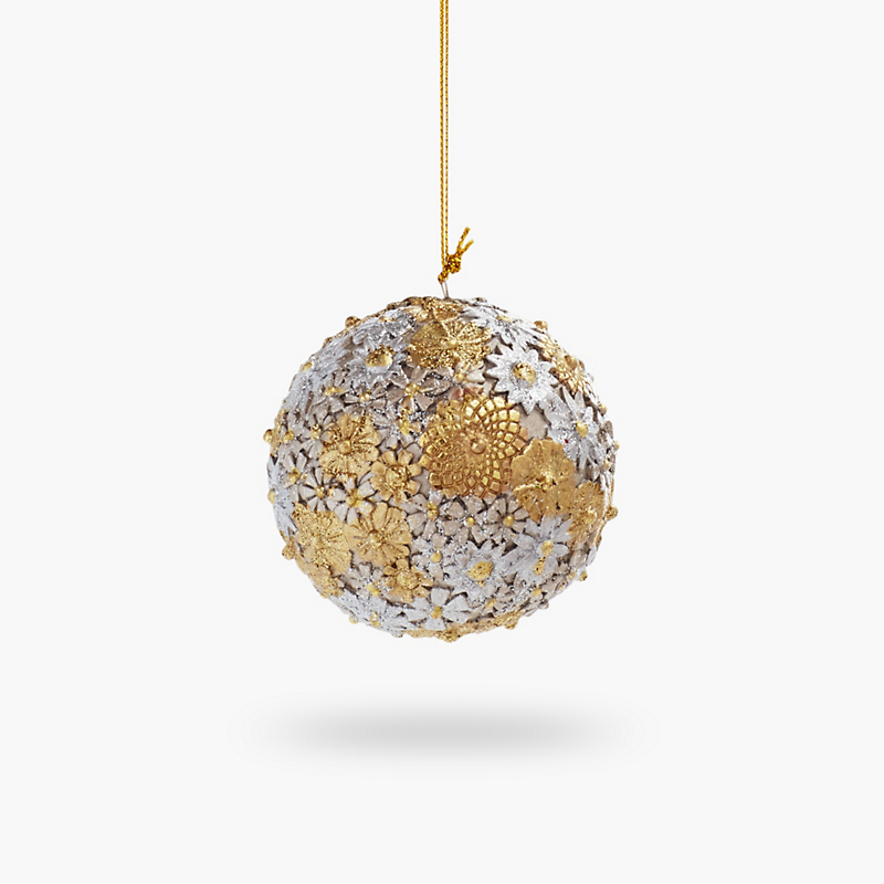 Silver & Gold Ball Christmas Ornament