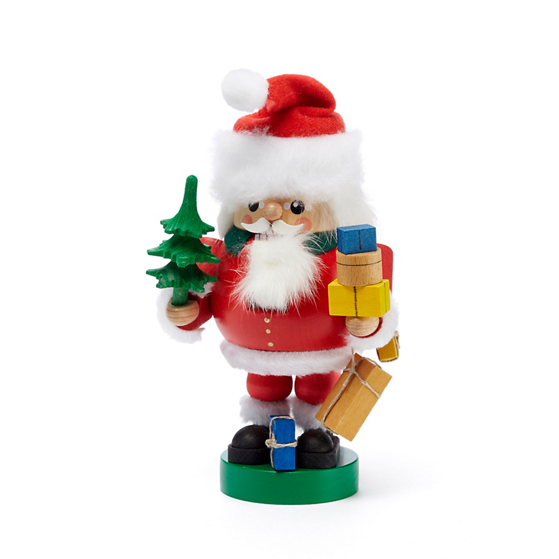 Santa with Tree Nutcracker