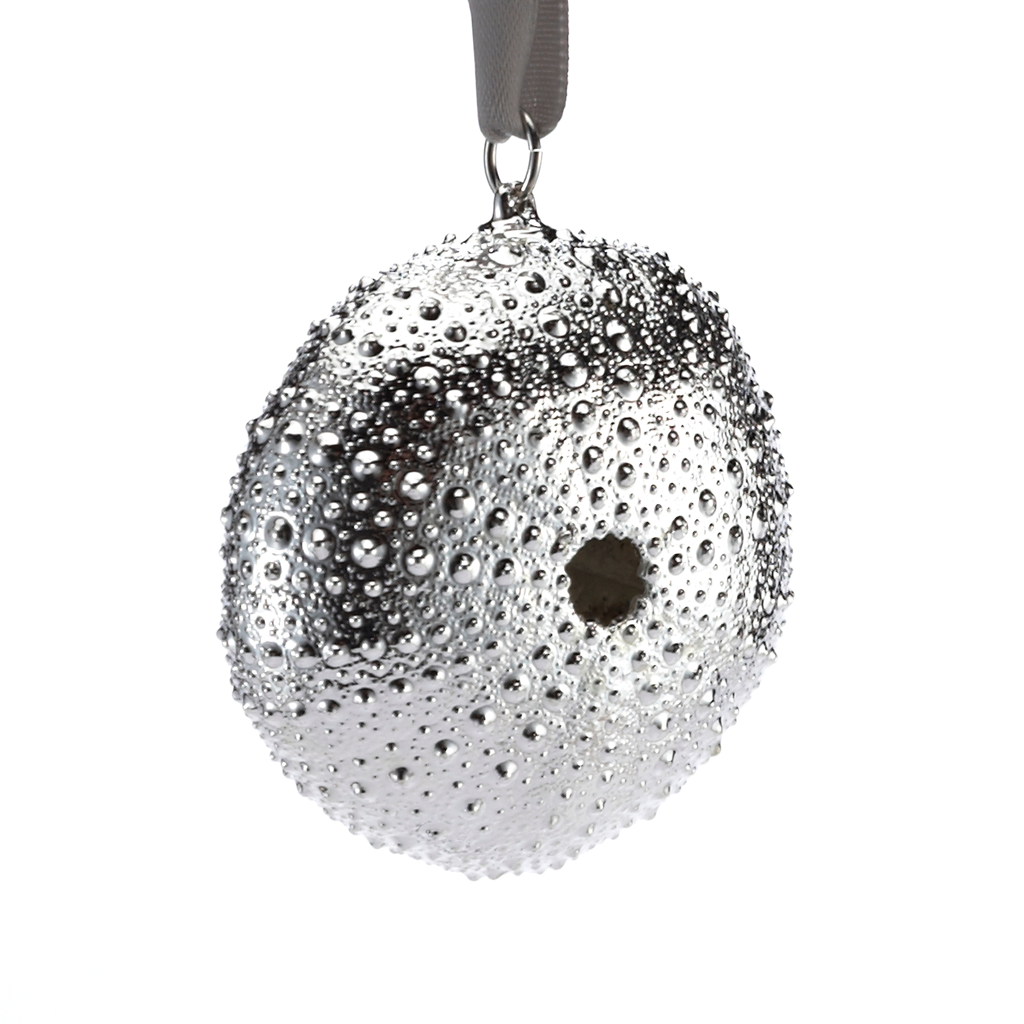 Still Life Sea Urchin Silver Christmas Ornament