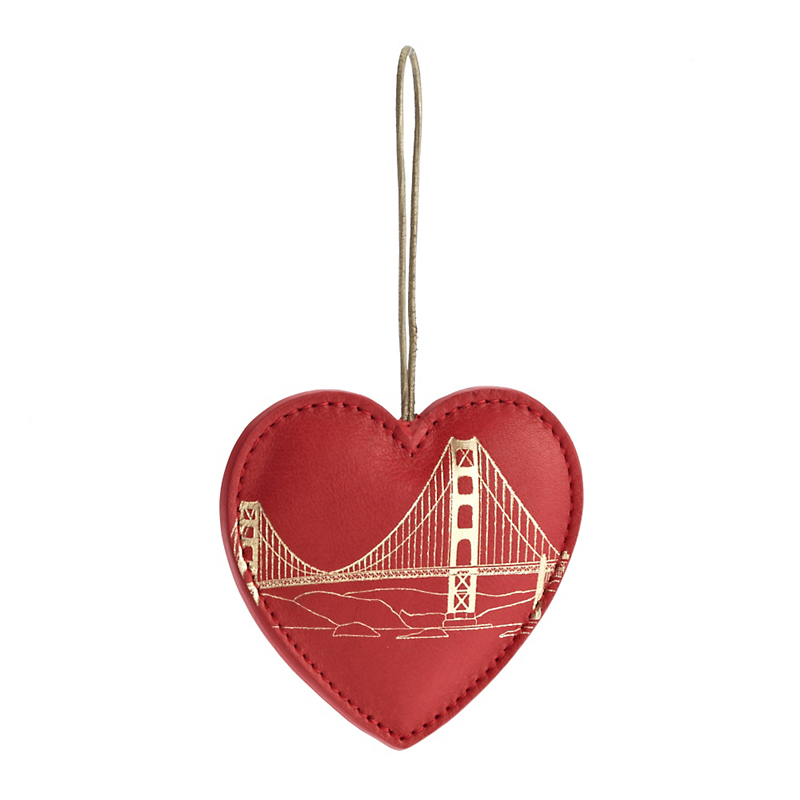 Graphic Image Heart With Bridge Christmas  Ornament
