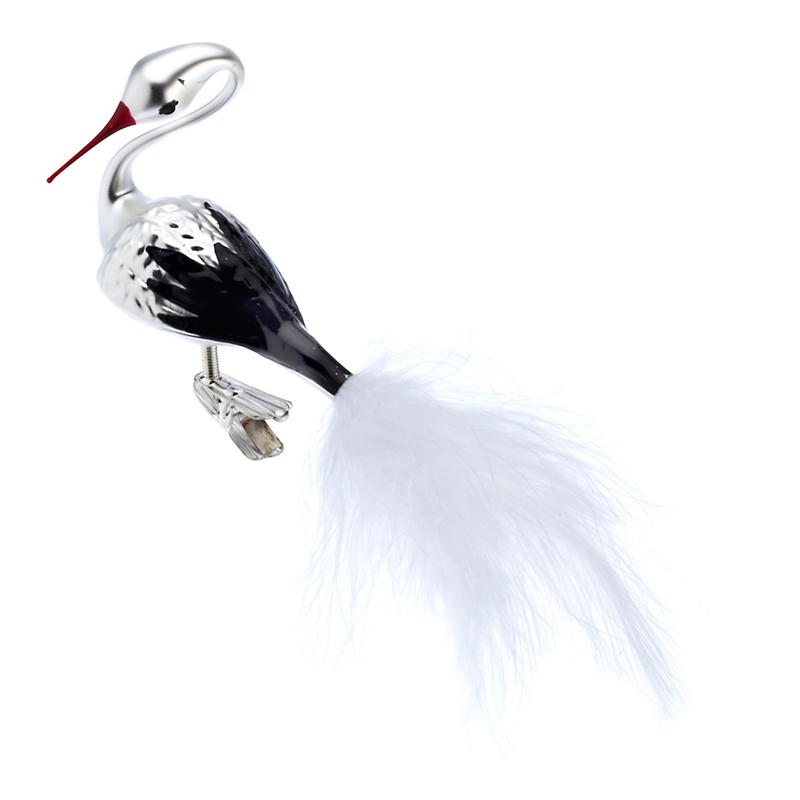 Swan with Black Wings Christmas Ornament
