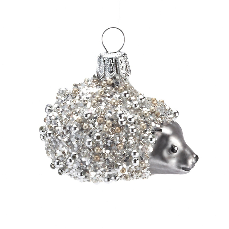 Beaded Hedgehog Christmas Ornament