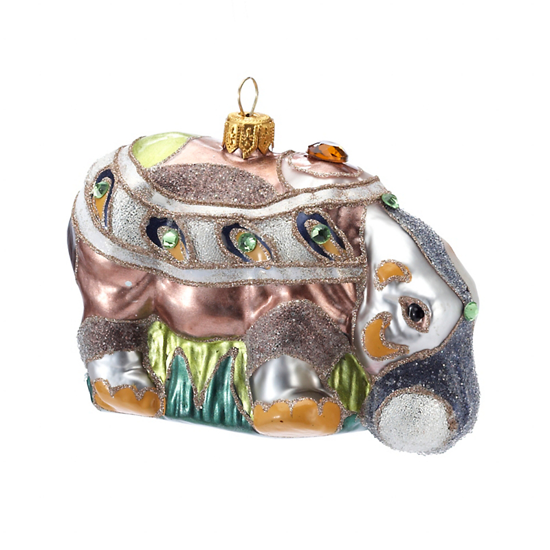 Deco Hippo Christmas Ornament