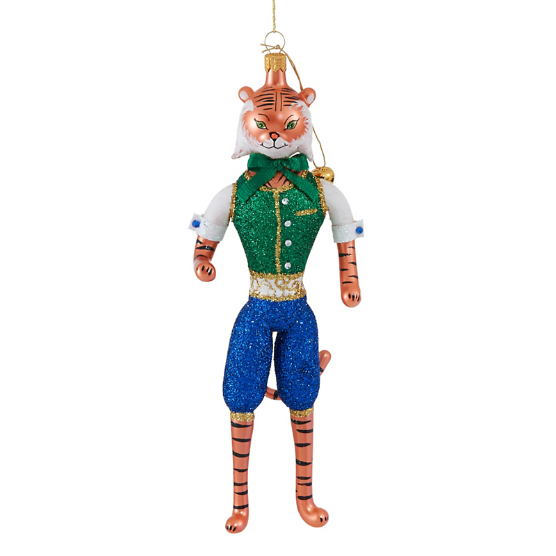 Jingle Nog Terrell Tiger Christmas Ornament