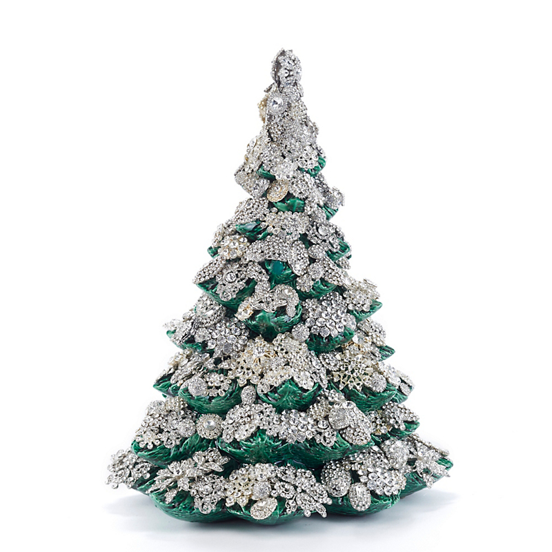 "Eric Cortina Green 15"" Jeweled Tree"