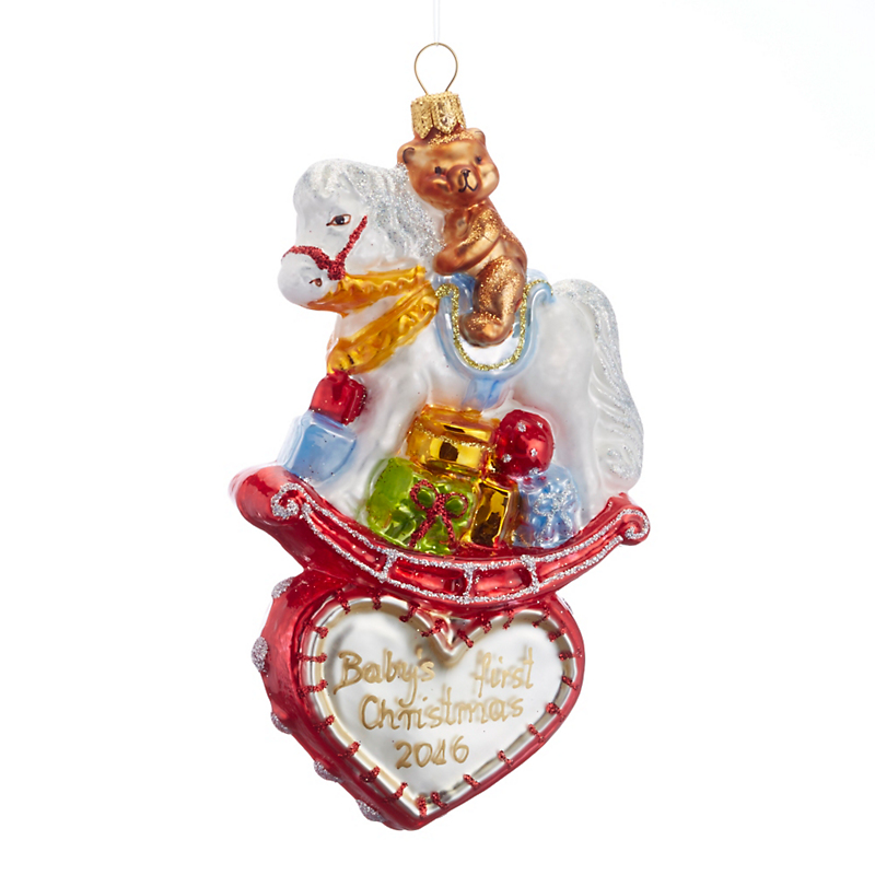 2016 Rocking Horse Christmas Ornament