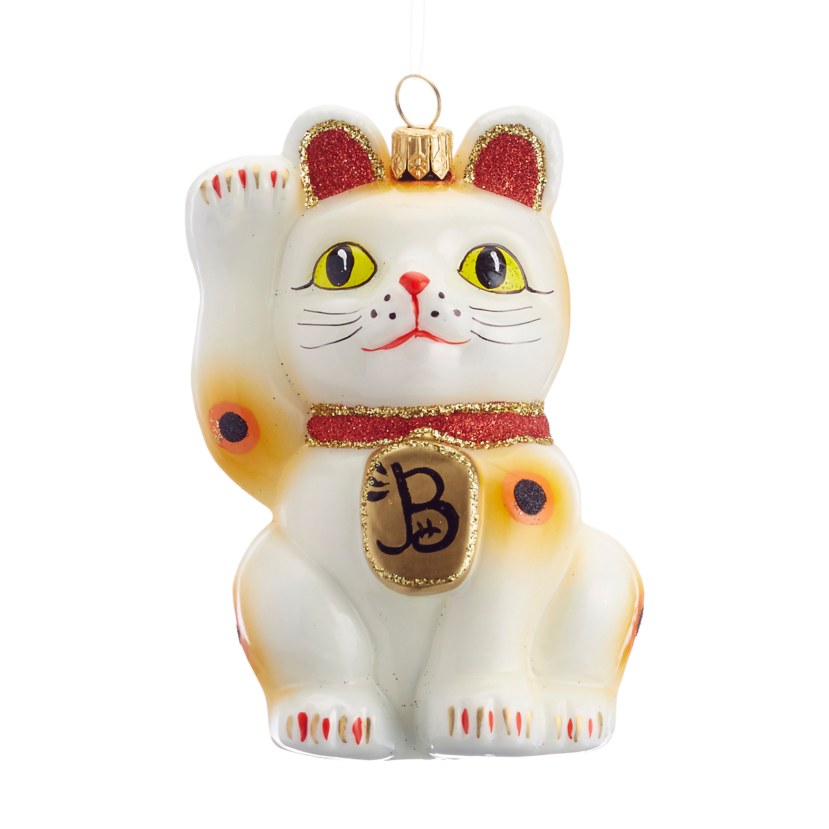 Beckoning Cat Christmas Ornament