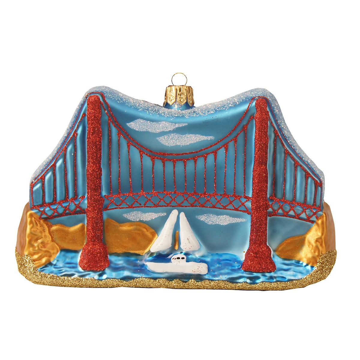 Golden gate bridge christmas ornament gump 39 s for Golden gate bridge jewelry