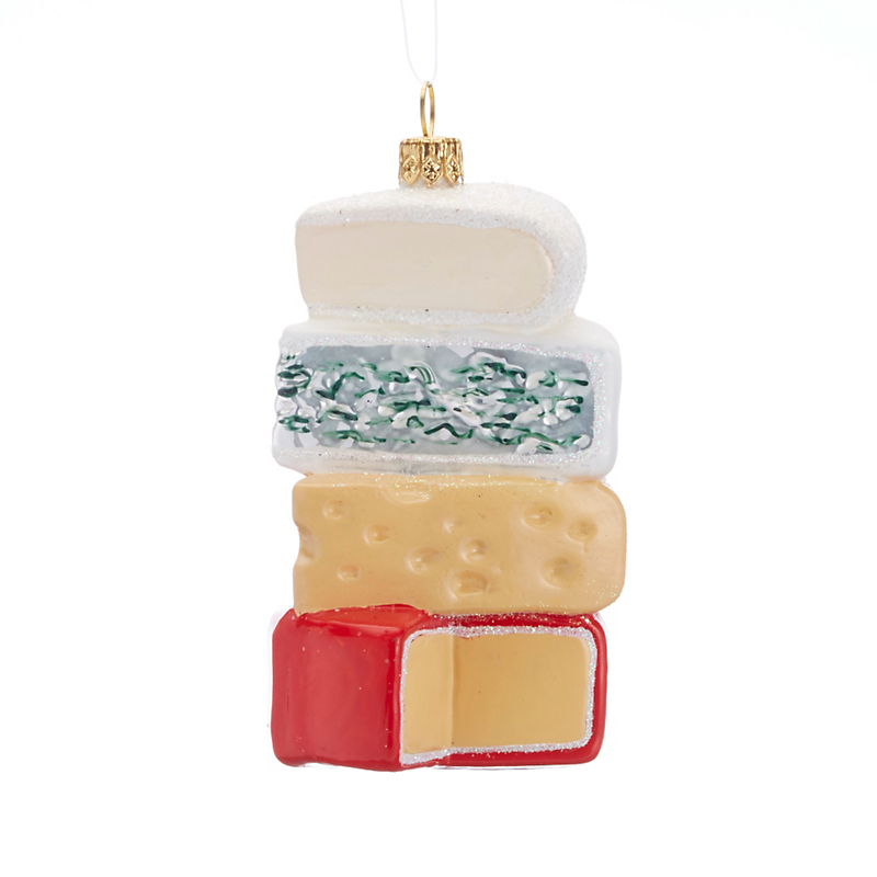 Stack Of Cheese Christmas Ornament