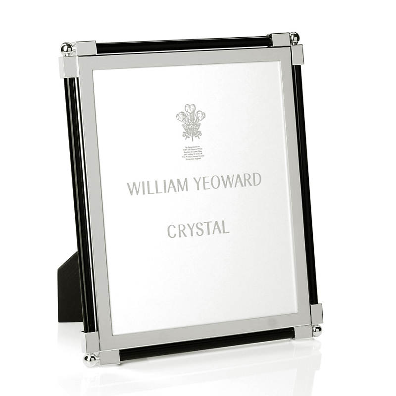 William Yeoward Crystal Classic Glass Black Frame, 8x10