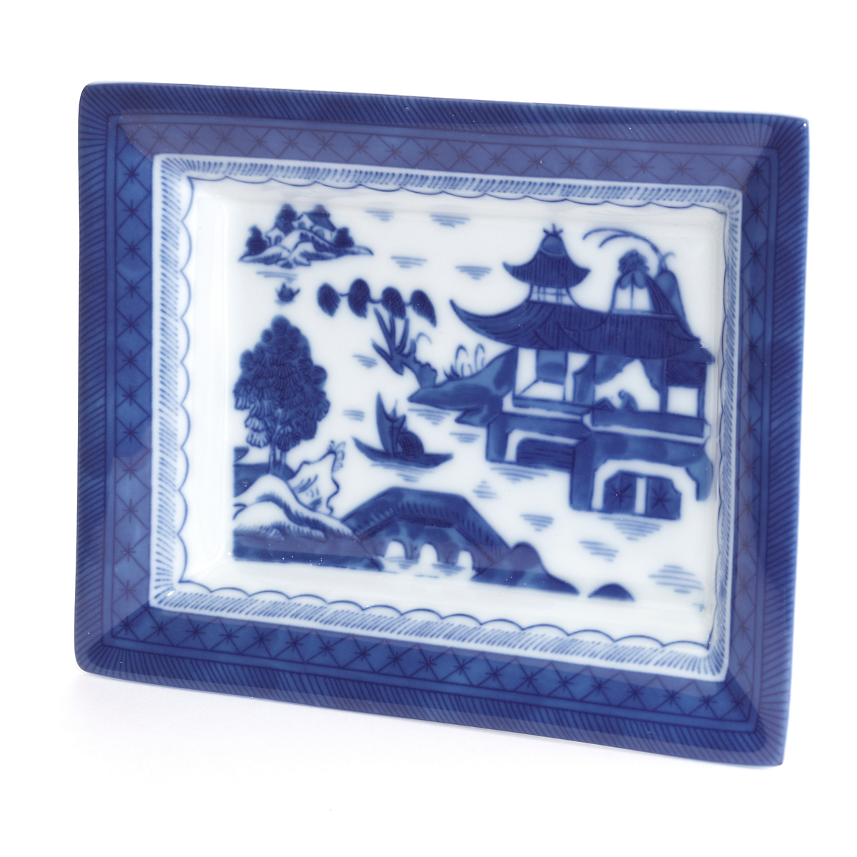 Mottahedeh Blue Canton Rectangular Tray