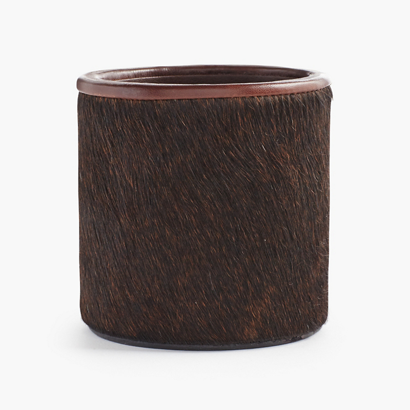Graphic Image Calf Hair Pencil Cup