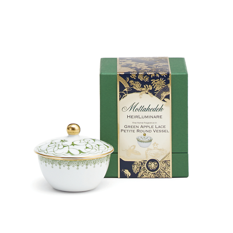 Mottahedeh Green Apple Lace Candles, Lemon Verbena