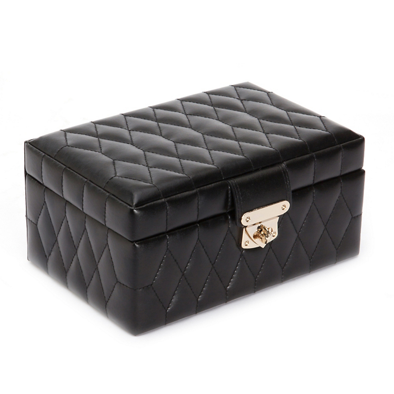 Wolf Designs Caroline Small Jewelry Box, Black