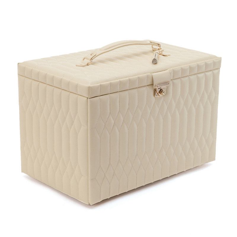 Caroline Jewelry Box, Extra Large Cream