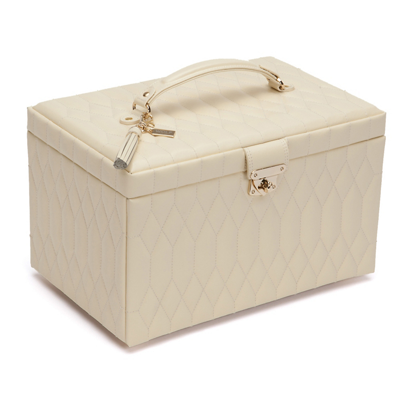 Caroline Jewelry Box, Large Cream