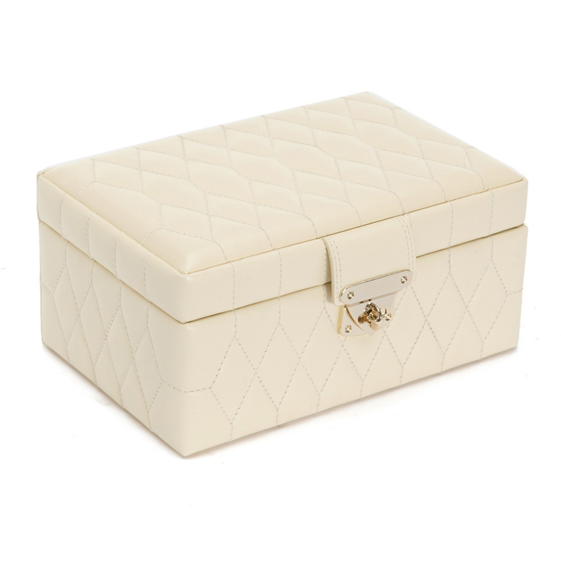 Caroline Jewelry Case, Small Cream