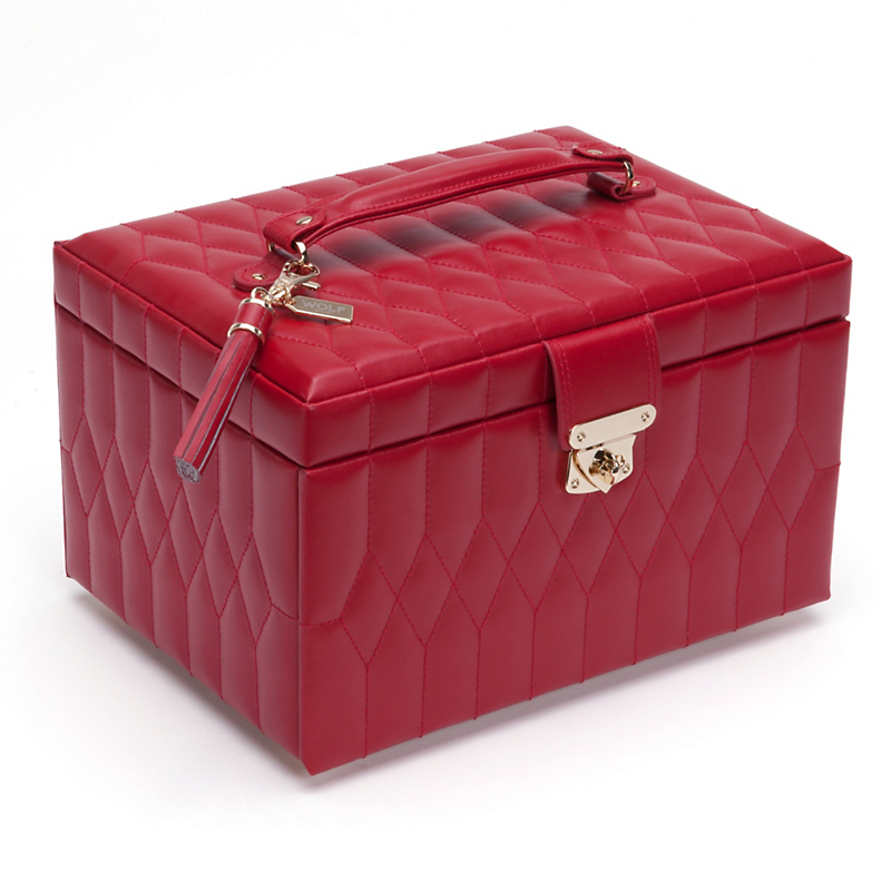 Caroline Jewelry Case, Medium Red