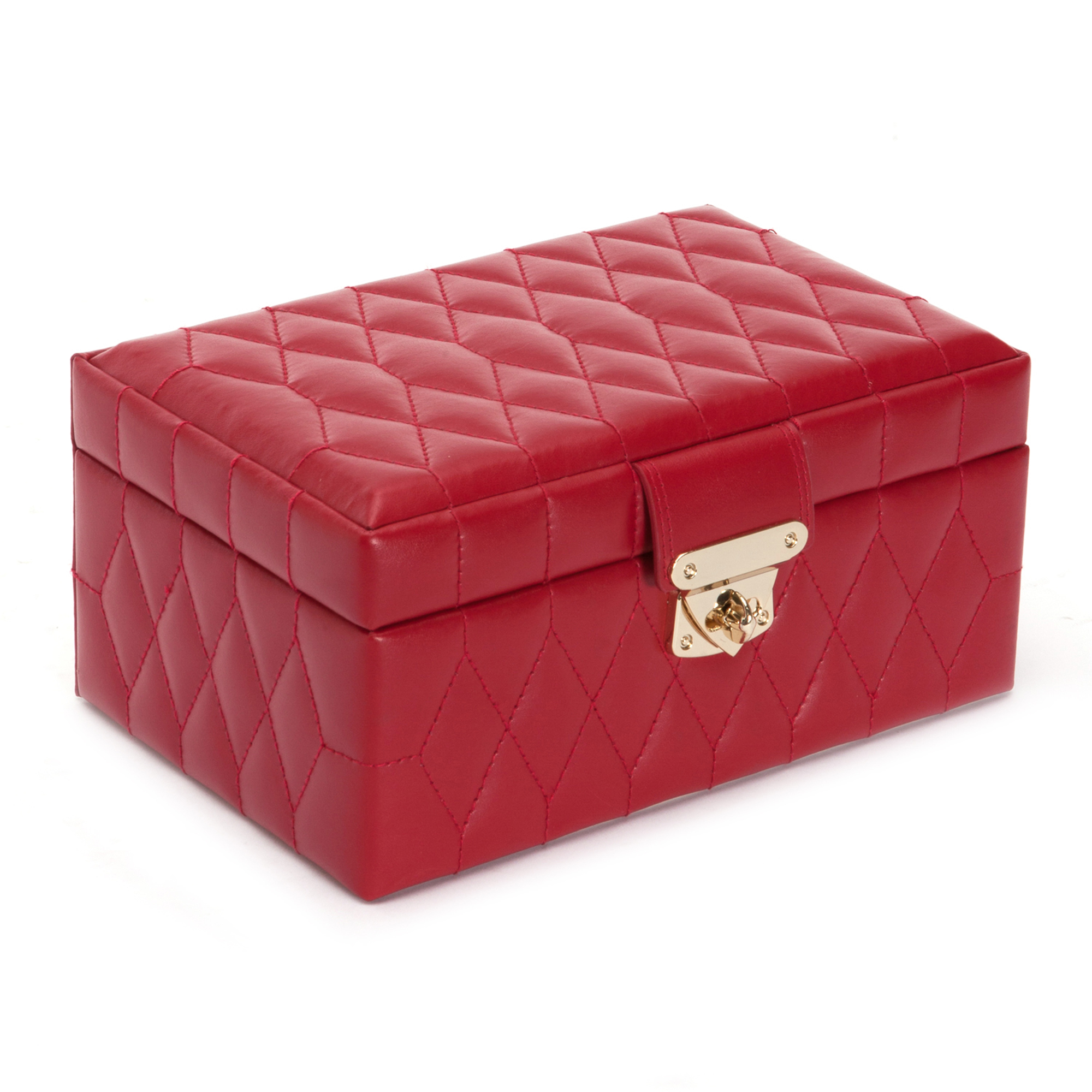 Wolf Caroline Small Jewelry Box, Red