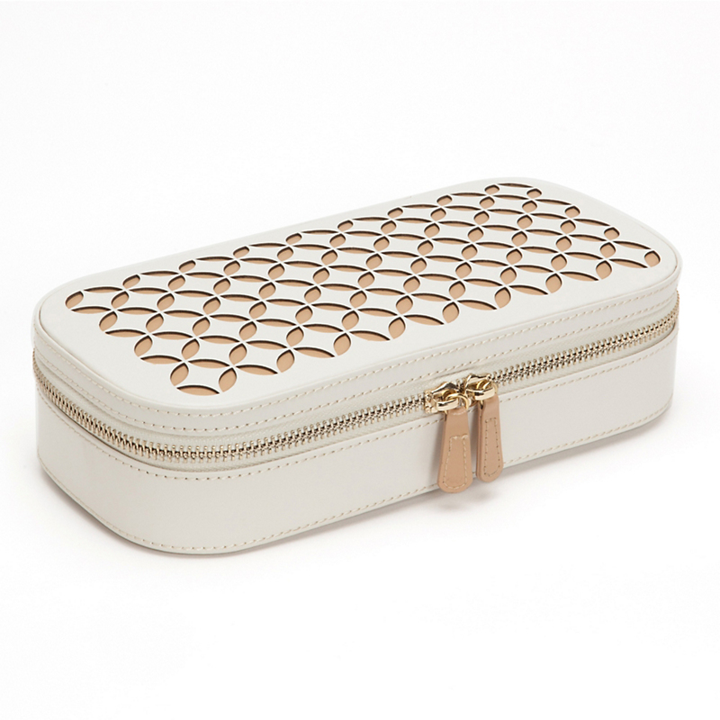 Zip Jewelry Case, Cream