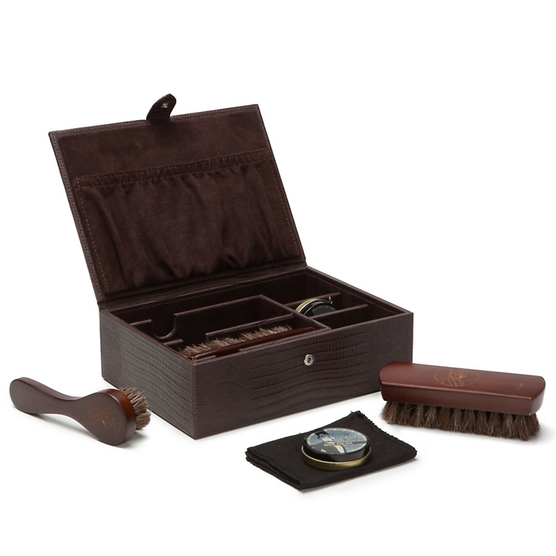 Shoe Shine Kit, Brown