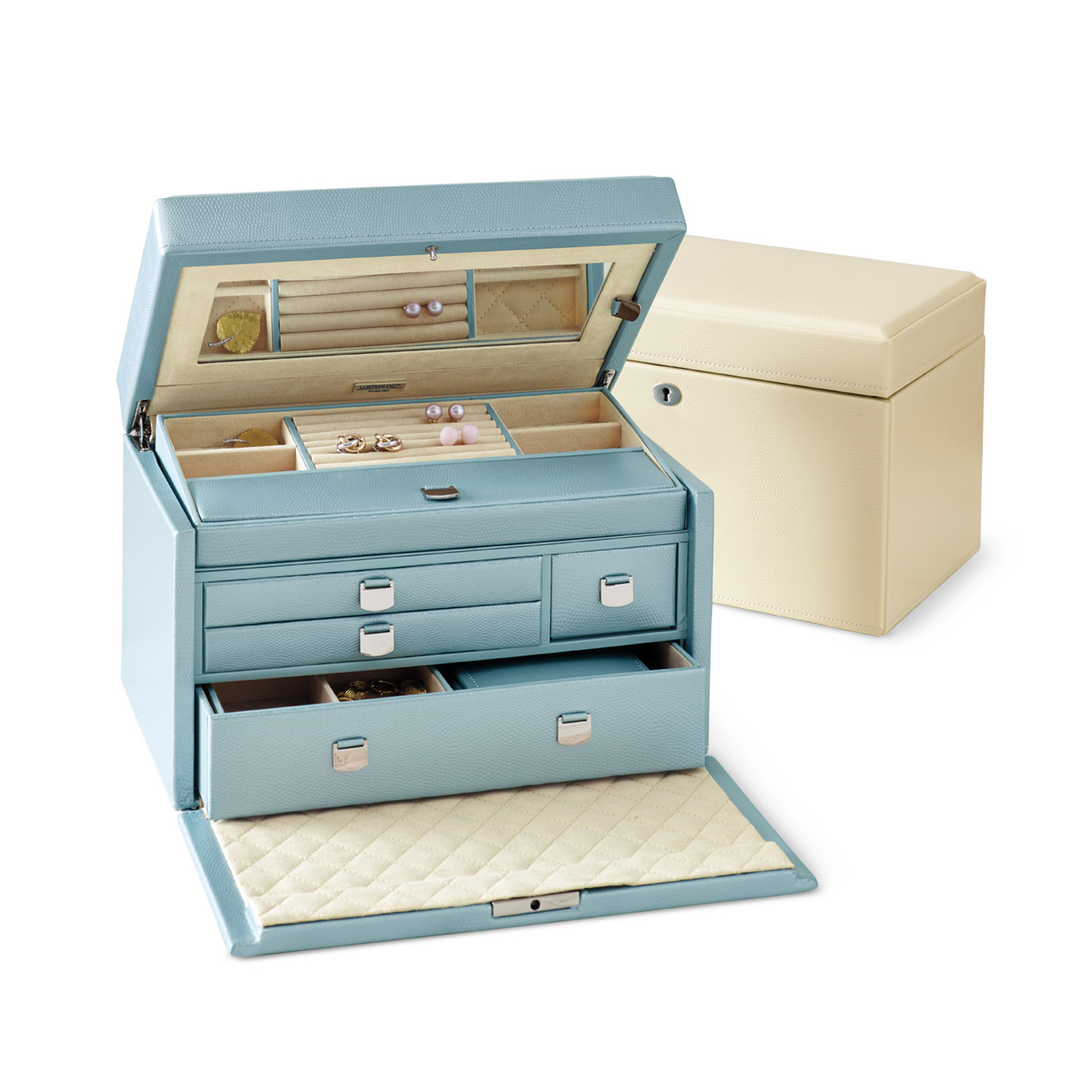 London Jewelry Box, Medium Blue