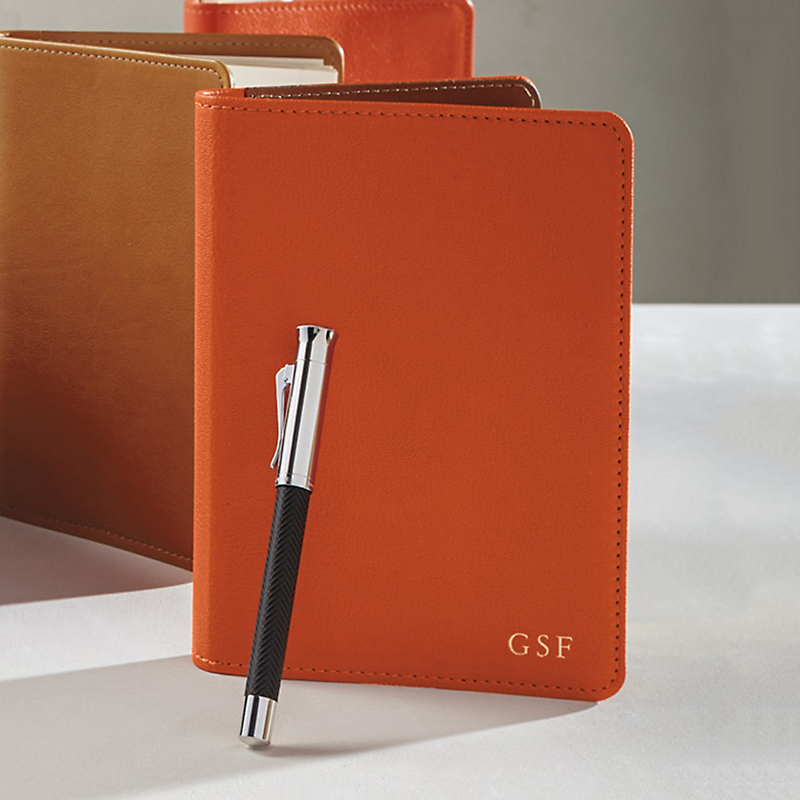 Graphic Image Refillable Journal, Orange