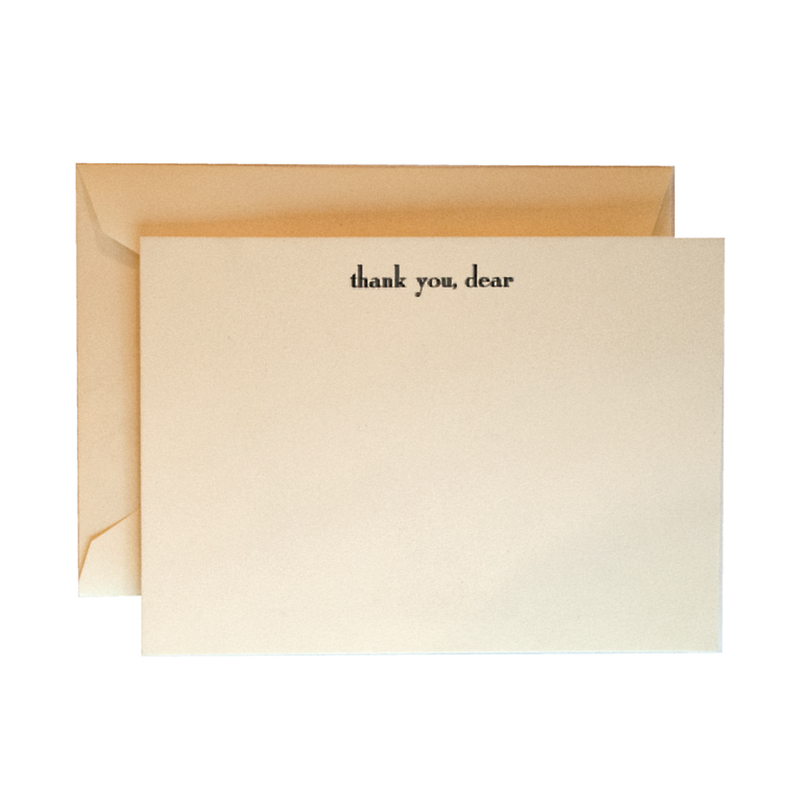 Dempsey & Carroll Thank you, dear' Cards, Set of 10