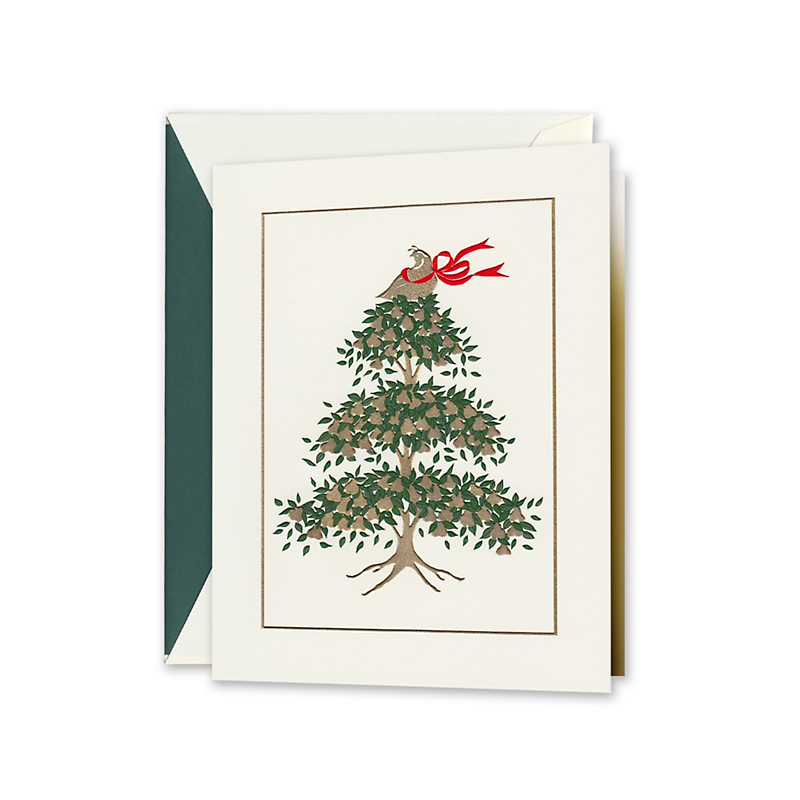 Crane & Co. Partridge In A Pear Tree Cards, Set of 10