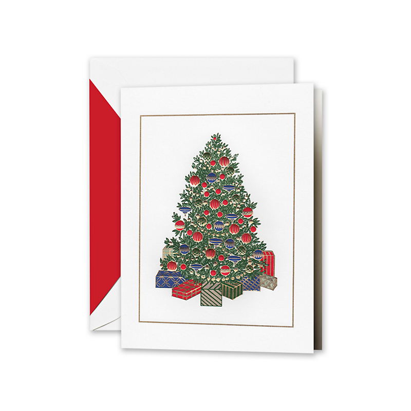 Crane & Co. Elegant Tree Cards, Set of 10