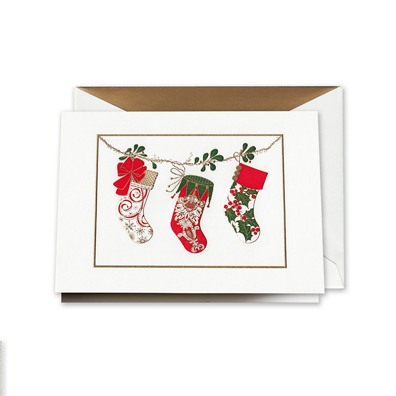 Crane & Co. Christmas Stockings Cards, Set of 10