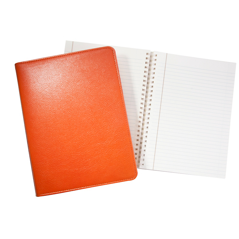 Graphic Image Refillable Leather Journals, Orange