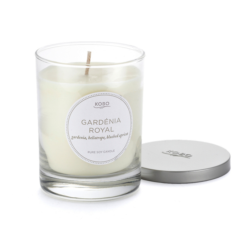 Kobo Pure Soy Candle, Gardenia Royal