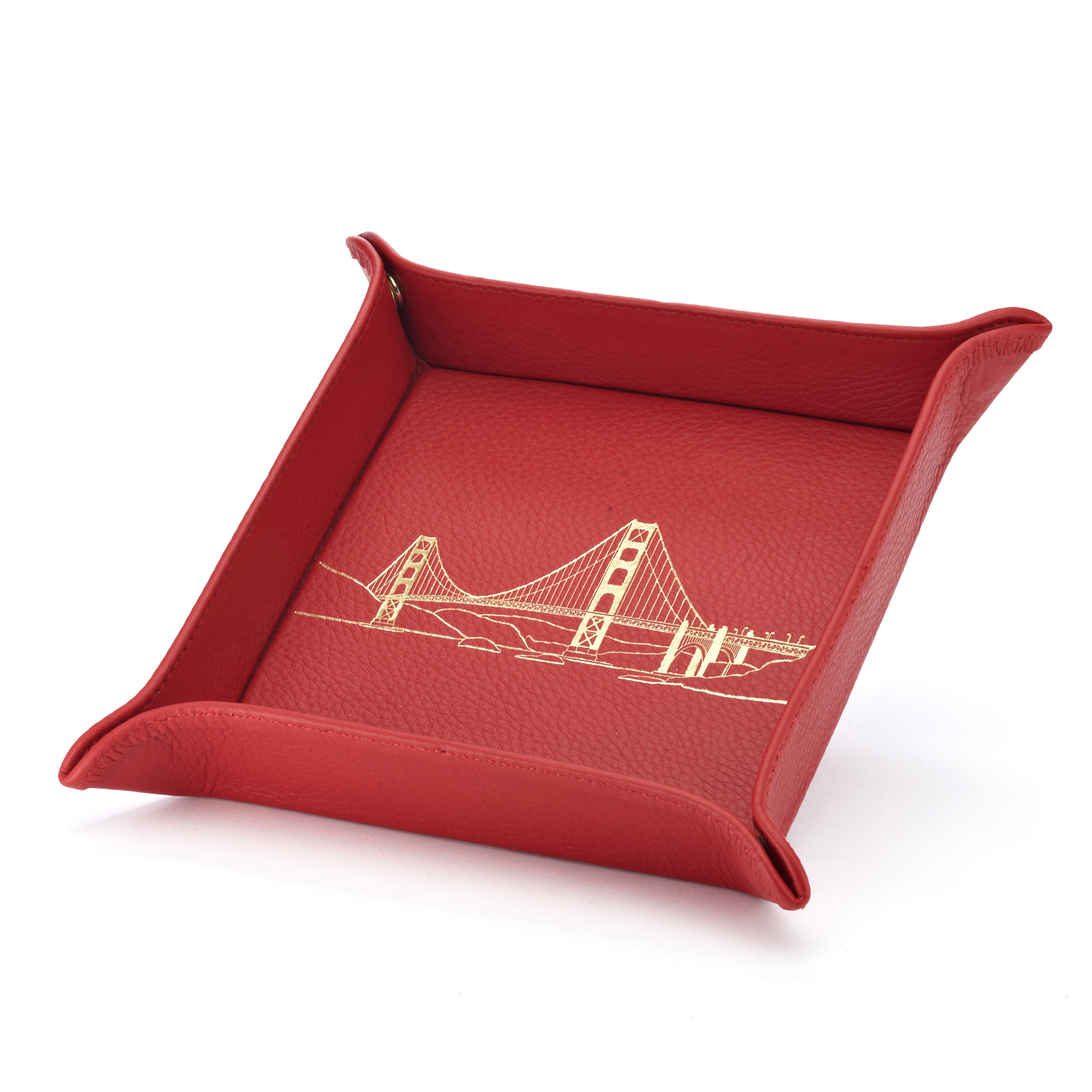 Graphic Image Valet Tray, Red