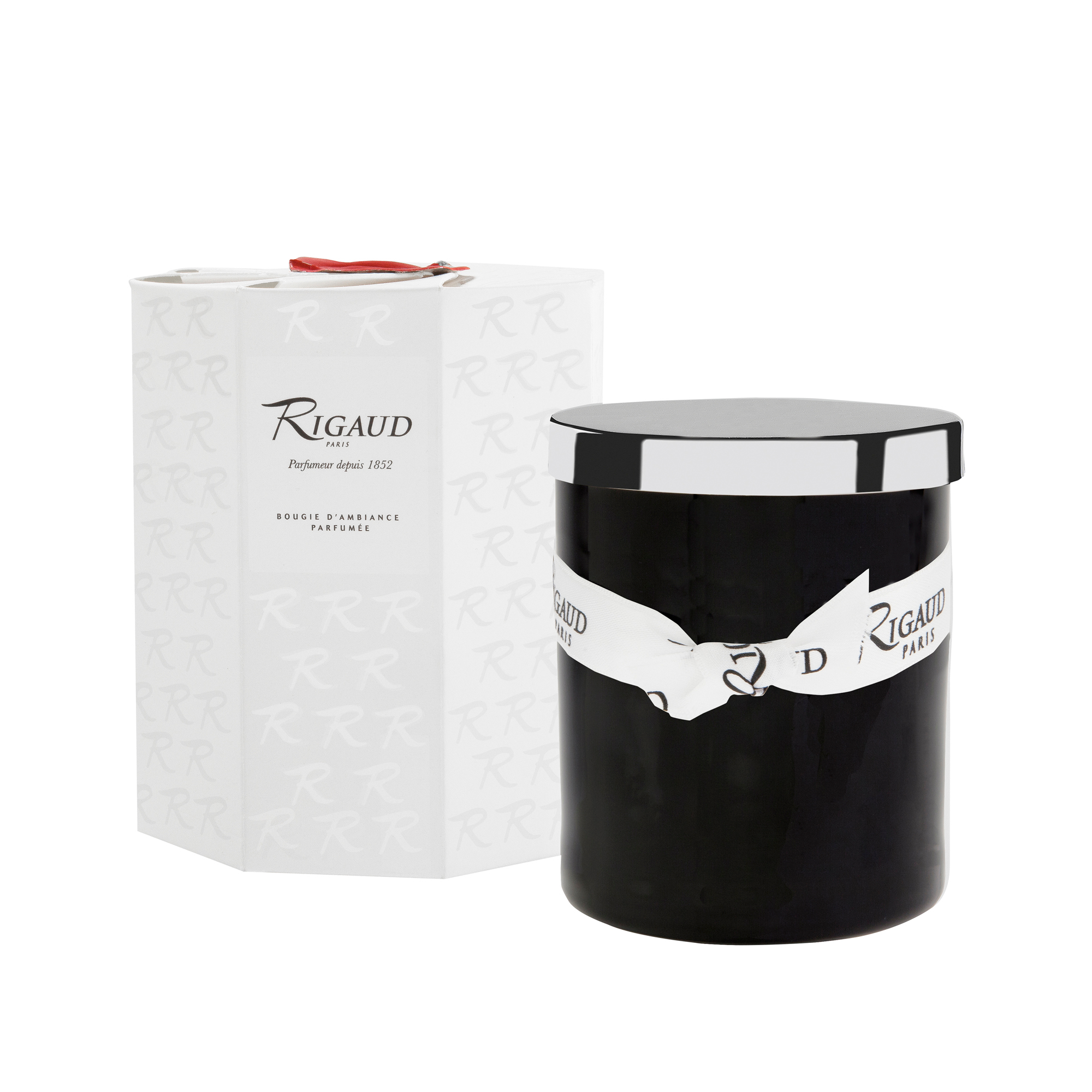 Rigaud Black Peche Mignon Candle, Medium
