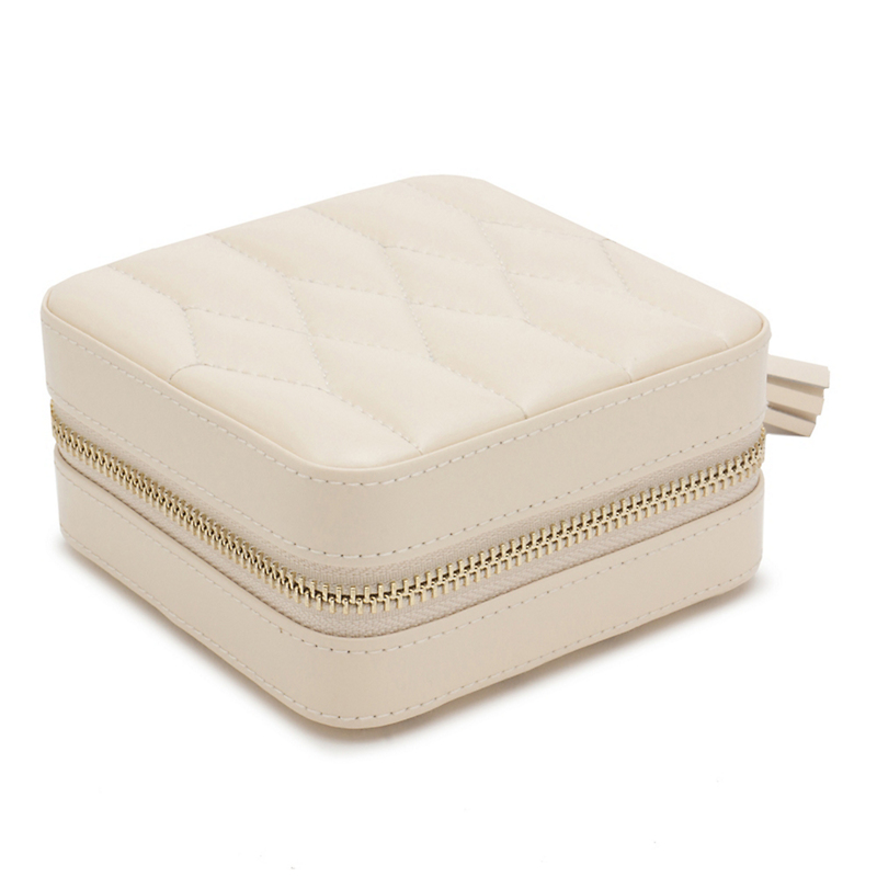 Wolf Designs Caroline Zip Case, Cream