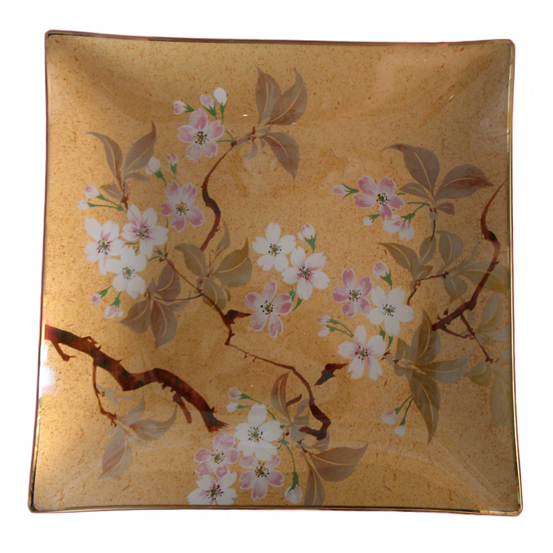 Glass Cherry Blossom Tray