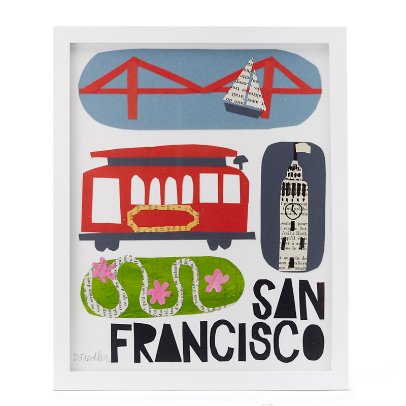 Paste  San Francisco Framed Collage
