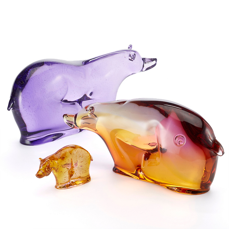 Dan Friday Glass Bear Family