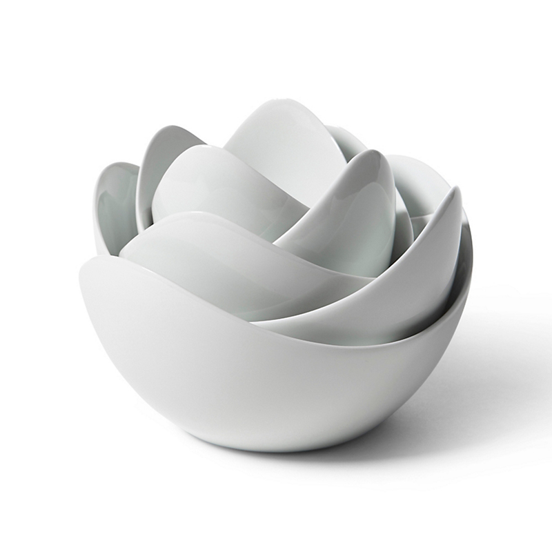 Spin Ceramics Lotus Bowl, White